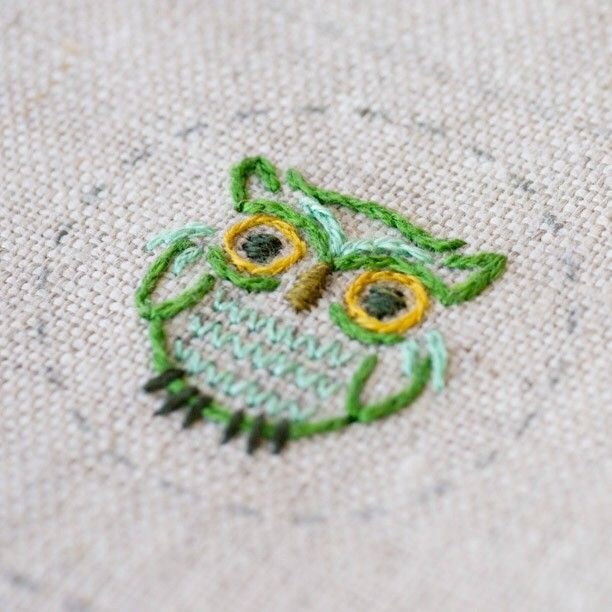 Heather Bailey owlie. Designer embroidery patterns available at…