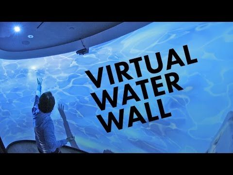 ▶ Interactive Projection Mapped Water Wall w/ Kinect and Unity3D - YouTube