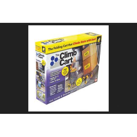 The Climb Cart Telebrands Climbing Shopping Cart Gray/Yellow 37-1/4 in. H x 14-3/4 in. W x 17 in
