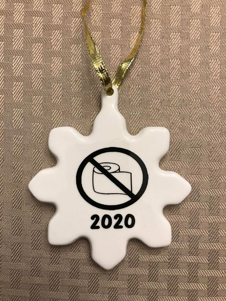 Snowflake Toilet Paper Struggle Christmas ornament in 2020