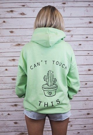 """""""CAN'T TOUCH THIS"""" CACTUS HOODY"""