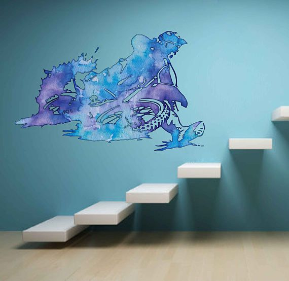 cik1837 Full Color Wall decal Watercolor motocross motorcycle racing rider  sports bedroom living room. 17 best ideas about Motocross Bedroom on Pinterest   Dirt bike
