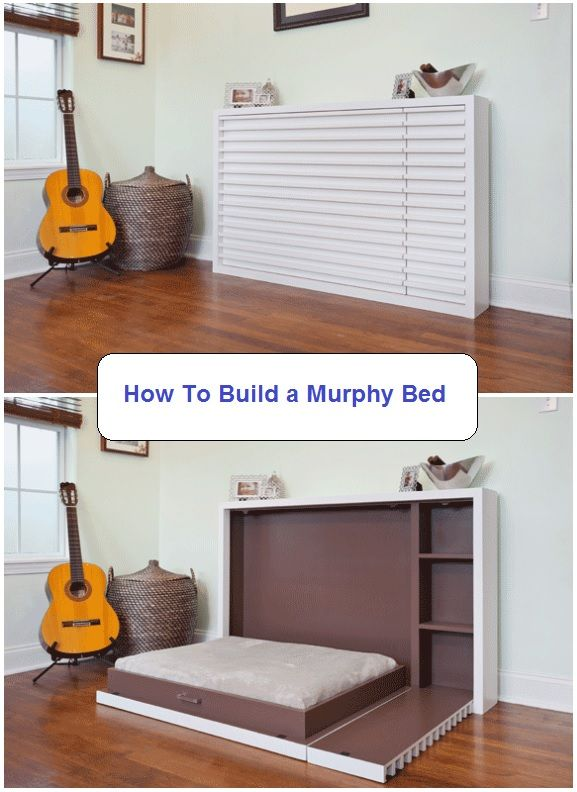 Step by step DIY guide on building a murphy bed with murphy bed plans. Learn how…
