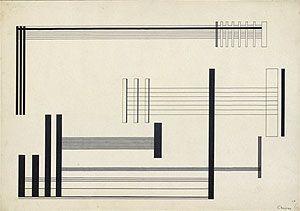 Lothar CHAROUX Composição, 1956 nanquim s papel