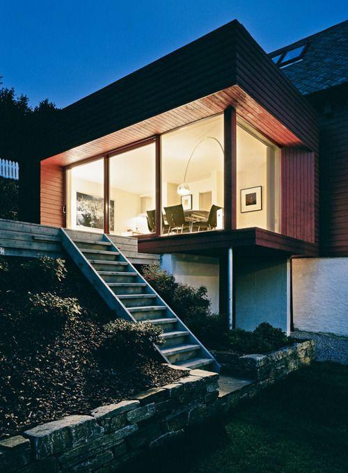 Todd Saunders - Halvorsen Hansen house addition, Bergen 2005.