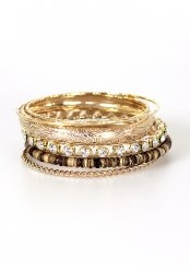 Bangle Set: Faux Bois Gold :)Repin By:Pinterest++ for iPad