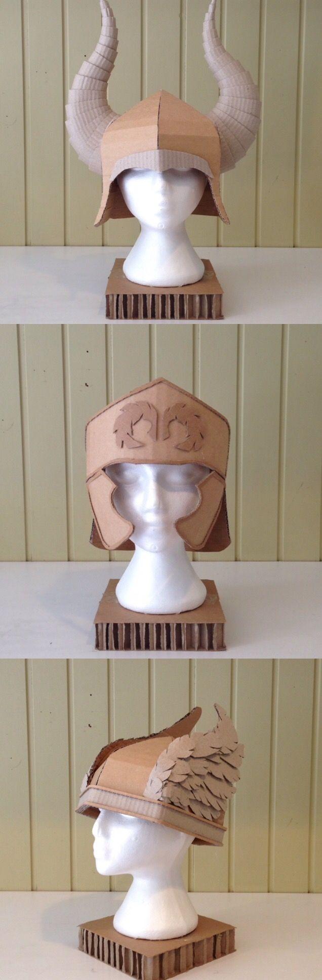 Cardboard Helmets by Zygote Brown Designs| Viking Helmet | Roman Helmet