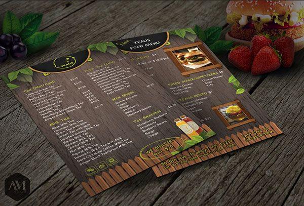 Prints // Menu on Behance #TeausMenu #menu #Designprinting #AMStudio #GraphicDesign