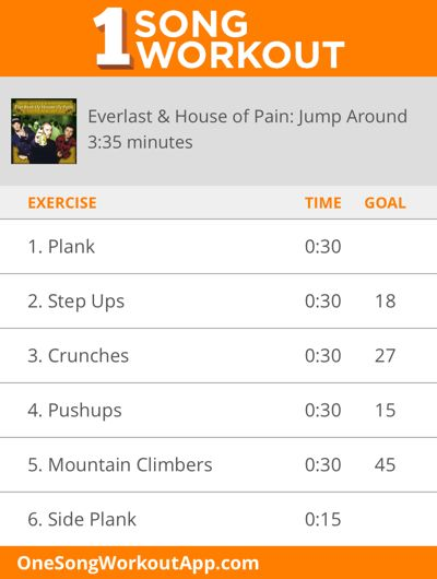 One song workout for House of Pain: Jump Around