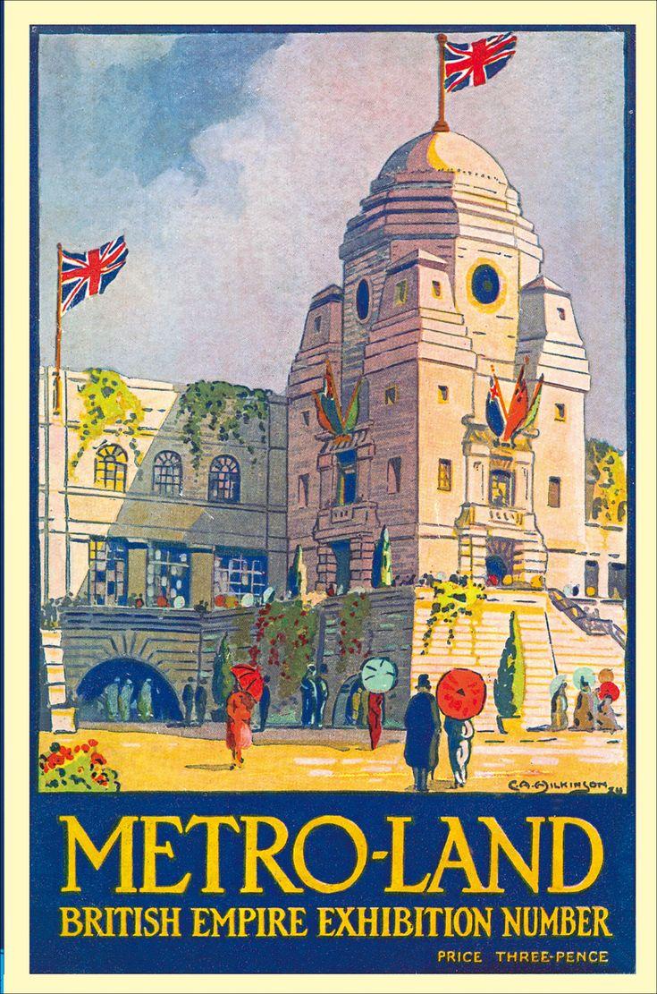 Metro-land: Wembley Stadium, 1924.