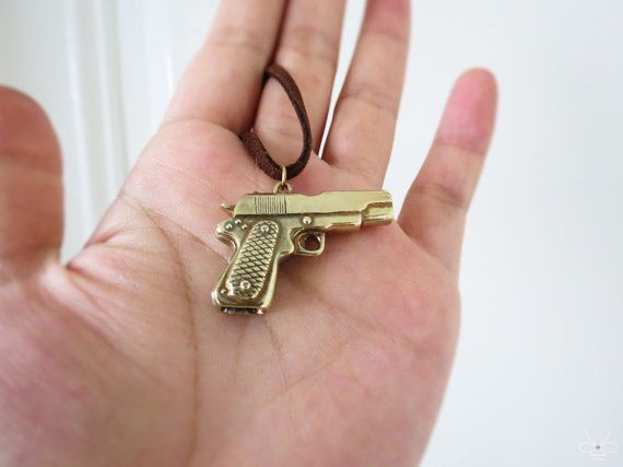 15% OFF Pistol Brass necklace Cpercent Brass by plOrkTaiwAn