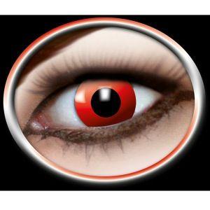 Kontaktlinser røde som djævle øjne. Kontaktlinser til den anderledes udklædning. Du kan ikke undgå at blive bemærket med disse røde djævle kontaktlinser. Brug dem til fester elle i hverdagen. #fest #kontaktlinser #devil