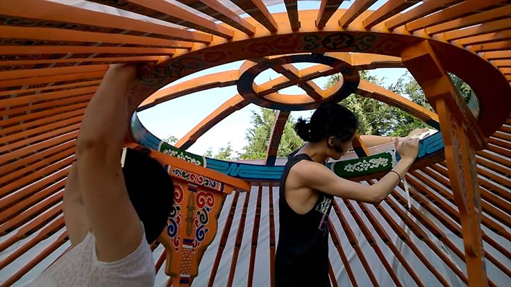 How to Build a Yurt - Adding the Fabric Layers to the Frame!