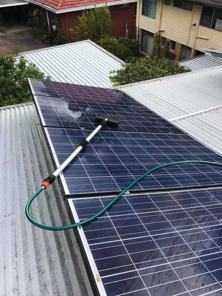 It is recommended that you get your solar panels cleaned annually. If you need yours cleaned, give Gutter-Vac a call on 1300 654 253. Dirty panels can reduce their effectiveness by up to 40%, so it isn't something you want to put off.   Image via Gutter-Vac Port Macquarie of a solar panel cleaning job in Eleebana, New South Wales..