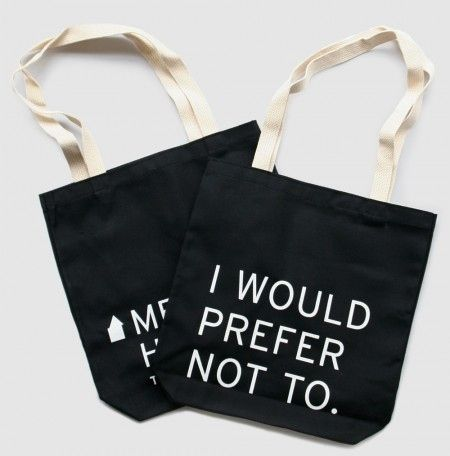 """Bartleby, the Scrivener"" Tote Bag 