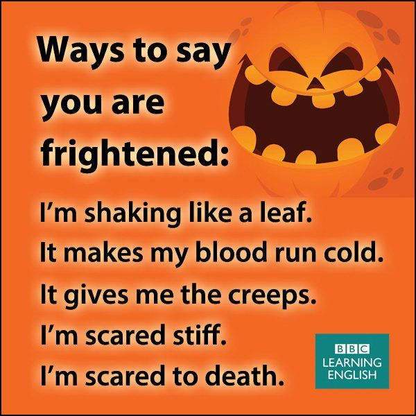 Ways to say you are frightened