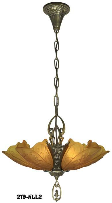 art deco reproduction lighting. art deco slip shade ceiling light medieval 5 chandelier is a solid brass reproduction antique lighting