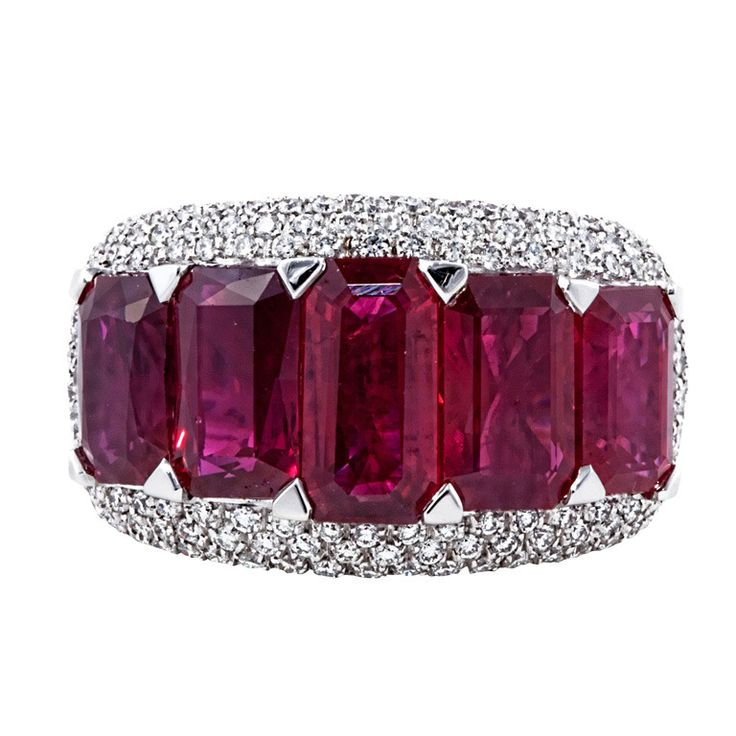 Best 25 Ruby diamond rings ideas on Pinterest