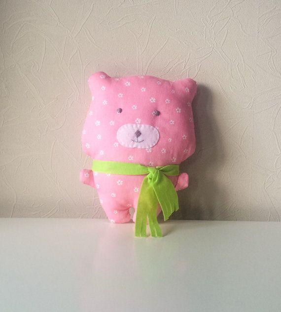 Free shippinghandmade bear toy bear fabric bear by BeTheOriginal