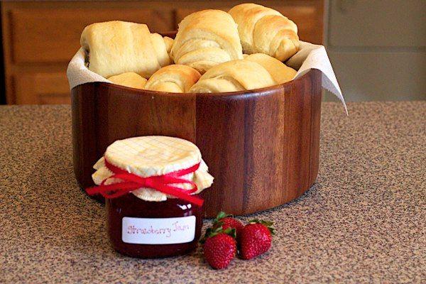 Homemade Strawberry Jam, Freshly Baked Bread... Nothing better!