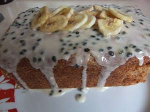 Banana, Coconut & Passionfruit Loaf Cake | Recipes from my blog, Some ...