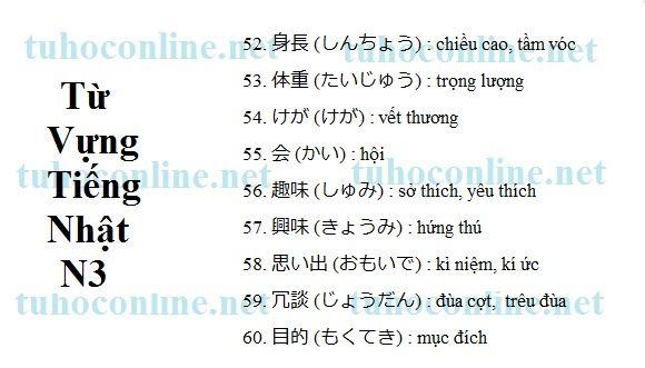 Từ vựng N3 sách mimi kara oboeru 6