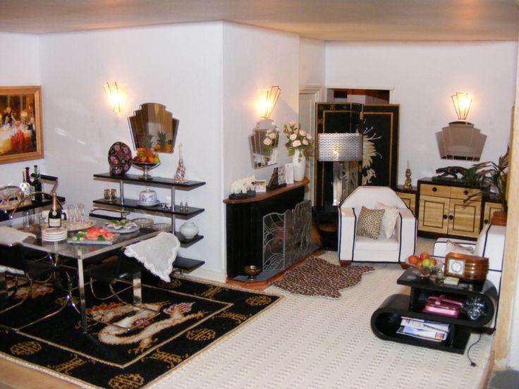 An Art Deco Living Room Setting
