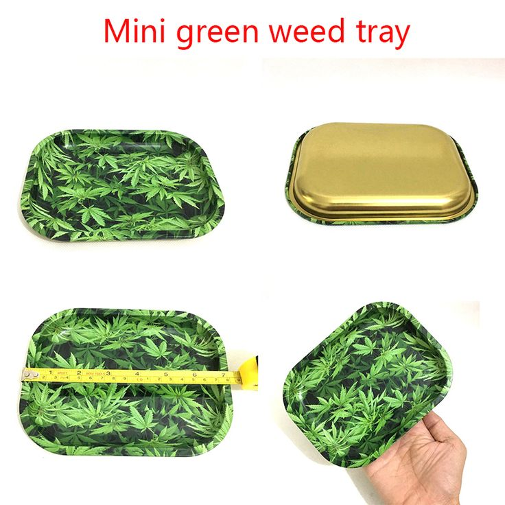 Mini 18cm Rolling Tray Tobacco Storage Plate  Discs for Smoke Green Weed Herb Grinder Water Pipe Hookah Shisha Glass Bong