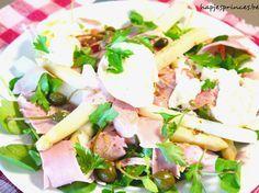 gepocheerde eieren met ham en asperges