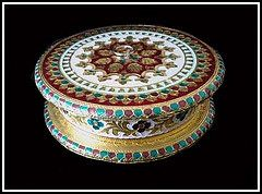 Royal Meenakari Dry Fruit Box in Round Shape | Flickr - Photo Sharing!