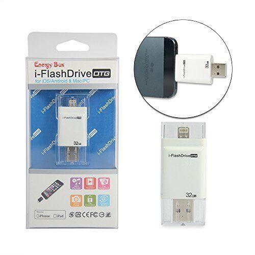 New I-flash drive otg clef usb pour iphone 5s / iphone 6 / iphone 6 plus / iphone 6s /iphone 6s plus /ipad l'ajout de stockage supplémentaire facile d'enregistrer l'image / video -32 gb -White Energy Box http://www.amazon.fr/dp/B010AH6QVY/ref=cm_sw_r_pi_dp_Sbm0wb042CPXF