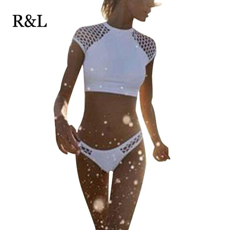 S-xxl女性の水着ビキニ女性ハイ ウエスト水着白水着かぎ針編み ビキニ セット マイヨ · デ · ベイン biquini(China (Mainland))