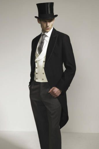 wear a top hat, especially if we get the horse and carriage. themarriedapp.com hearted <3