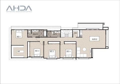 KEY SPECS 292.3m2    4 Bedrooms    2.5 Bathrooms    2 Car Garage    2 Storey DESCRIPTION  This modern and unique house design is perfect for long a