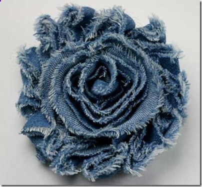Shabby Denim Flowers