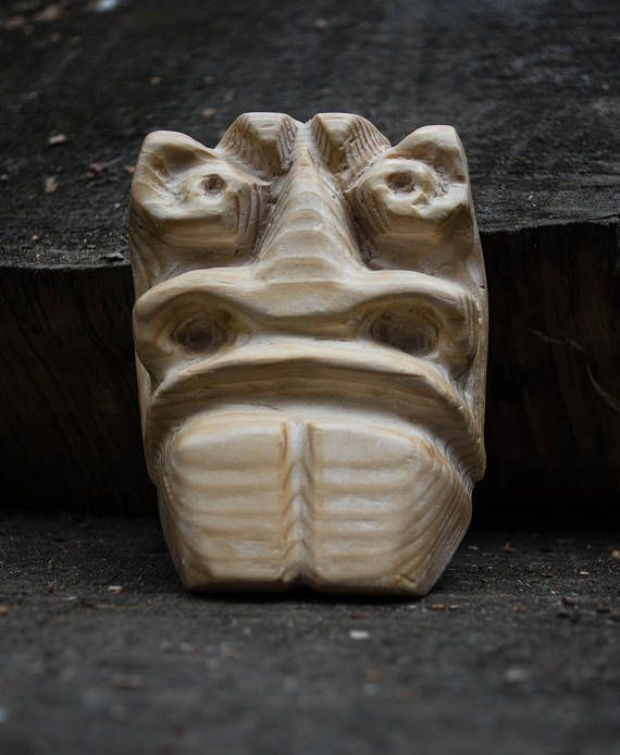 Figurine-amulet from pine