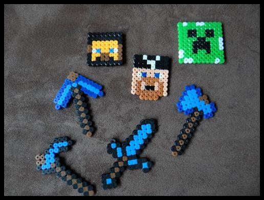 Minecraft Mottoparty Bügelperlen
