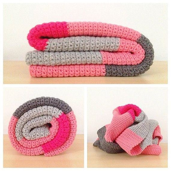 Eenvoudige gehaakte Baby deken patroon, blok gehaakte deken kleurenpatroon, Easy Crochet Baby deken patroon