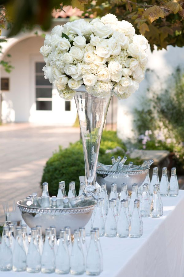 Beautiful tall white centerpiece my wedding