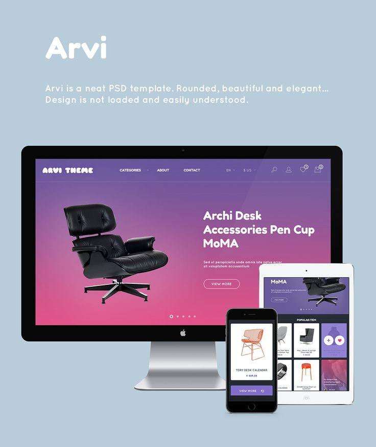 Arvi. Free PSD on Behance