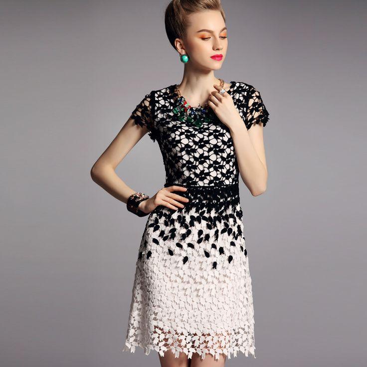 patron de vestidos tejido a crochet Aziyue 2013 hidrotrópico de primavera y verano de ganchillo recorte