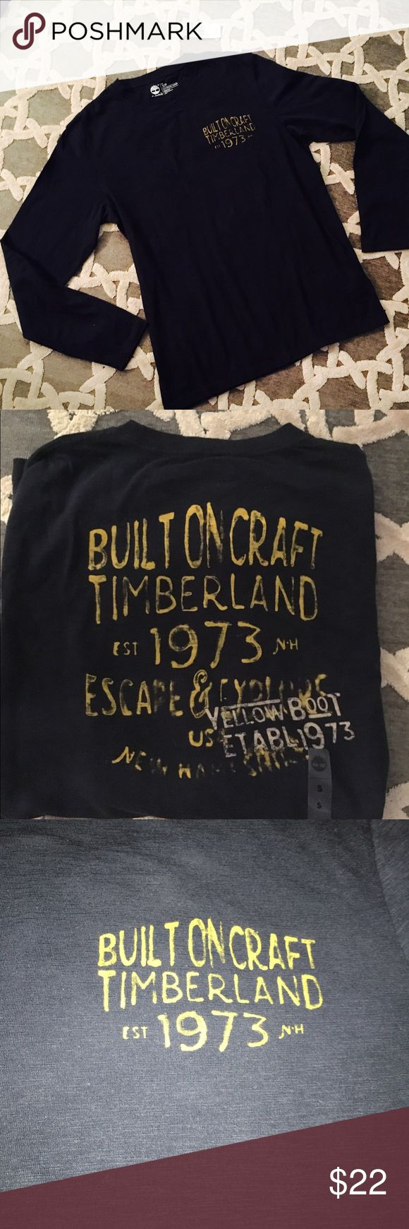 Timberland long sleeve men's NWT Cute and comfy size small long sleeve t shirt by Timberland. The color is Navy. Brand new with tags! Timberland Shirts Tees - Long Sleeve