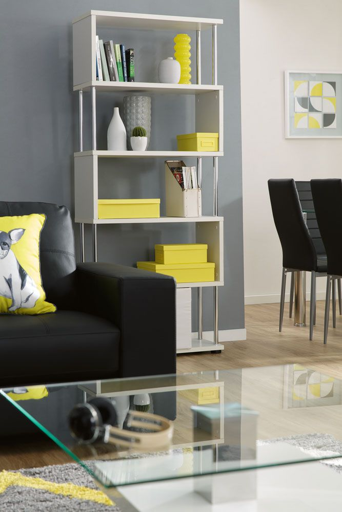 The Ecco bookcase is striking and makes a statement with its bold geometric design