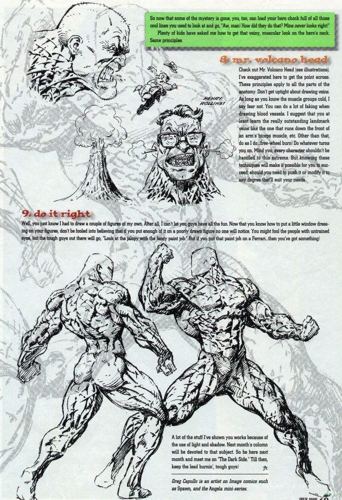 Wizard Magazines Basic Training Drawing Tutorials By Greg Capullo