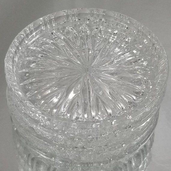 Vintage Blown Glass Coasters Set Of 4 Starburst Design