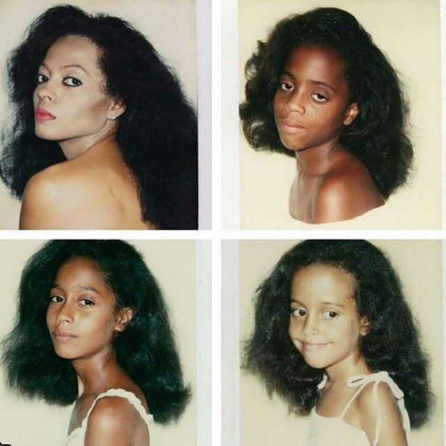 Andy Warhol Polaroids Of Diana Ross And Her Daughters Rhonda Chudney Tracee