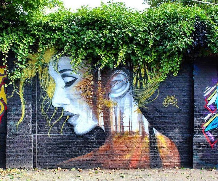 RT GoogleStreetArt: When Street Art meets Nature Works by Vyrus Art #art #mural…