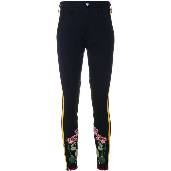 c5f0bab929a Gucci Flower Embroidered Stripe Leggings ( 1
