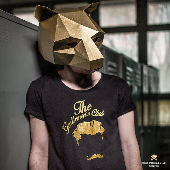 Máscara de oso  hacer su propia tarjeta reciclado por Wintercroft