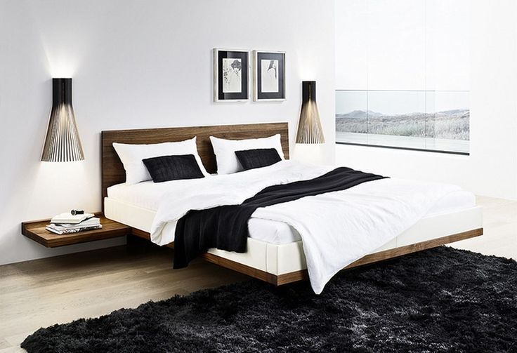 Minimalist Solid Walnut Bed Inspiration listed in: